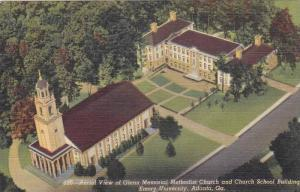 Aerial View of Glenn Memorial Methodist Church and Church School Building, Em...