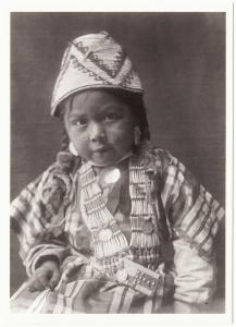 Wishham Child by Edward S. Curtis Native American Modern Postcard