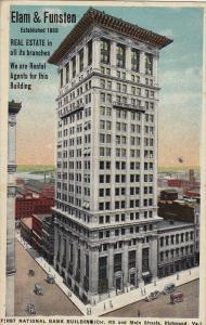 Elam & Funsten, First National Bank Building, RICHMOND, Virginia, 1910-1920s
