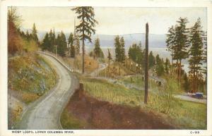 Clatsop Washington~Widby Loops~Lower Columbia River~1920 Postcard
