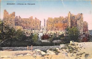 BR72637 l entree de l acropole   baalbek syrie syria