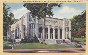 Norton Memorial Hall, Chautauqua Institution, CHAUTAUQUA,  New York, 30-40s