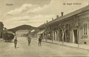 romania, ORȘOVA, Str. Regele Ferdinand (1910s) Postcard