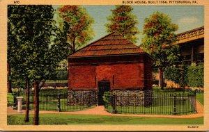 Pennsylvania Pittsburgh Block House Built 1764 Curteich