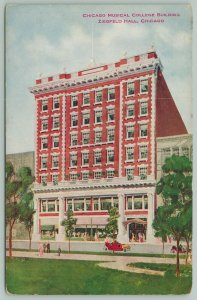 Chicago~Musical Bldg~Columbia College~Aka Ziegfield or Vitagraph Theatre c1910