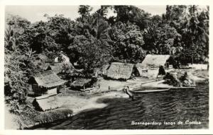 suriname, Native Maroon Village along the Cottica (1950s) RPPC