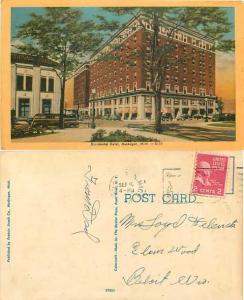 Occidental Hotel, Muskegon, Michigan, MI, 1953 Linen