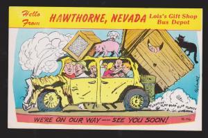 Comic Postcard - Hello From Hawthorne, Nevada - Unused