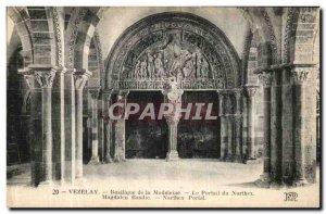 Postcard Old Vezelay Basilica of the Madeleine The Portal Narthex