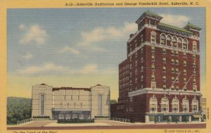 ASHEVILLE , North Carolina , 1930-40s; Auditorium & George Vanderbilt Hotel