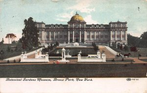 Botanical Gardens Museum, Bronx Park, New York, Early Postcard, Used in 1909