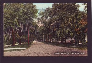 P1591 unused postcard old dirt park st. jacksonville florida