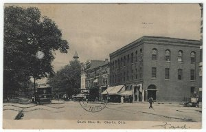 Oberlin, Ohio, Vintage Postcard View of South Main Street, 1909