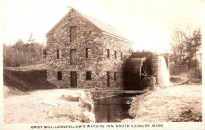 Massachusetts South Sudbury Longfellow's Wayside Inn The Grist Mill Real...