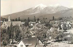 San Francisco Peaks from Flagstaff Arizona AZ  Real Photo