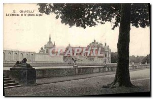 Old Postcard Chantilly Chateau and the large degree