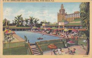 Florida Miami Beach Everglades Cabana Club And Pool 1945