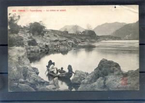 VIET-NAM Indochine - TONKIN - Tuyen Quang - The river upstream.1900's
