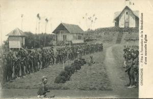 papua new guinea, ONONGHE, Native Festival Blessing New Church (1910s) Mission