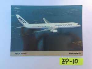 767 300 BOEING can travel nonstop with a full payload Vintage Postcard ZP-10