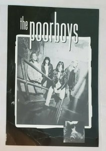 Advertising Card: The Poorboys- 'Pardon Me' album release, call number. 1992.