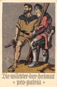 Switzerland, Die waechter der heimat pro patria, Bundesfeier Postkarte 1910