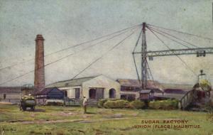 mauritius maurice, UNION FLACQ, Sugar Factory (1910s) Postcard