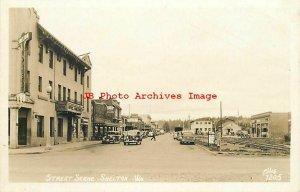WA, Shelton, Washington, RPPC, Street Scene, Business Section, Ellis 7205