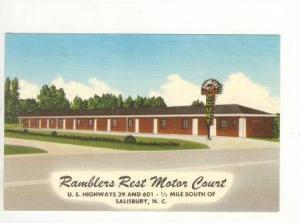 Ramblers Rest Motor Court, Salisbury, North Carolina, 1930-1940s