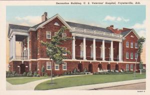 FAYETTEVILLE, Arkansas, 10-20s; Recreation Building, U.S. Veterans' Hosp.