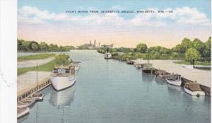 MARINETTE, Wisconsin, 1930-1940´s; Yacht Basin From Interstate Bridge