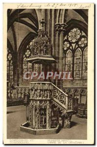Old Postcard Strassbourg Chair of the cathedral