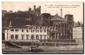 Old Postcard Lyon Cathedrale St Jean the former Archbishop's Library hill of ...