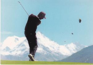 Post Card Switzerland Crans-Montana Golf Club Crans-sur-Sierre Tee Hole 7