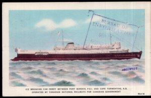 PEI CNR M.V. ABEGWEIT Ice Breaking Car Ferry Port Borden PEI NB - pm1940 - WB