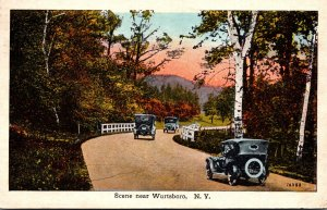 New York Catskills Road Scene Near Wurtsboro 1926
