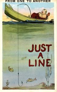 Humor - From one to another, just a line.