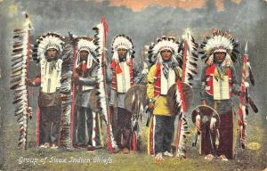 Group of Sioux Indians Chiefs Illustrated Postal Card Company Postcard