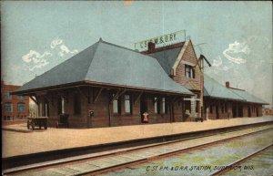 Superior WI C.St.P.M&O RR Train Station Depot c1910 Rotograph Postcard