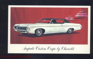 1968 CHEVROLET CAPRICE ATHENS OHIO PAGE CAR DEALER ADVERTISING POSTCARD '68