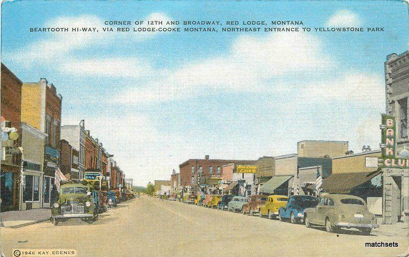 Autos 1940s Red Lodge Montana Bear Tooth Highway Yellowstone Flash Kropp 10632