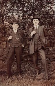Fashionable Handsome Men, Fancy Hats, Elegant Suits