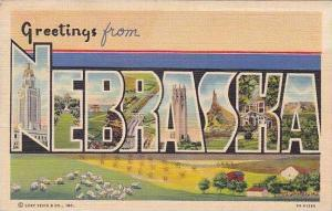 Nebraska Greetings From Curteich