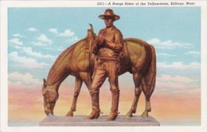 Montana Billings Range Rider Of The Yellowstone Statue