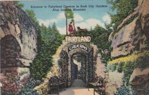 Tennessee Chattanooga Entrance To Fairyland Caverns In Rock City Gardens Atop...