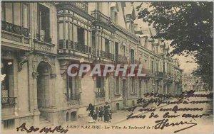 Old Postcard SAINT NAZAIRE- Villas at Ocean Boulevard