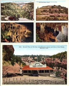 Lot of (5) Cave of the Winds Manitou Colorado Postcards Standard View Cards