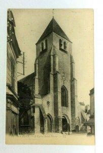 C.1919 Bourg-Saint-Pierre Switzerland Church Vintage Postcard