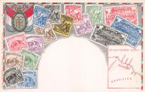 French Guiana, Classic Stamps in Actual Colors, Early Embossed Postcard, Unused