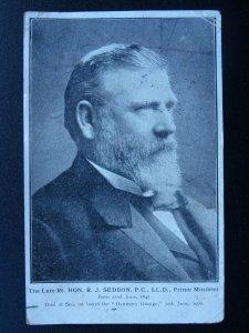 New Zealand - Rt. HON. R.J. SEDDON P.C, LL.D. Prime Minister c1906 Postcard